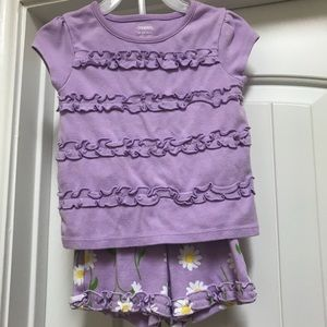 Gymboree Matching Sets - Gymboree two piece outfit - shirt and shorts